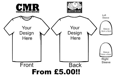 Personalised T Shirts Fruit Of The Loom Sleeves Stag Race Wear Custom Clothes