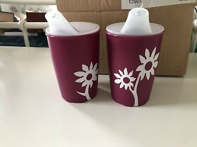 Ornamin 250 Ml Non Slip Spouted Drinking Cups X2 AND 1 Dual Wall Cup