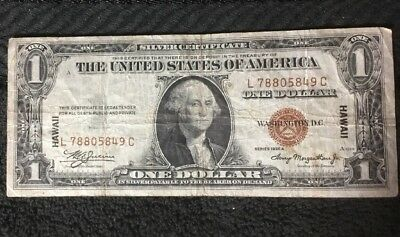 Series 1935 A One Dollar Silver Certificate HAWAII $1 Note - #1