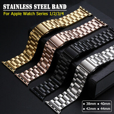 38/42mm iWatch Band Stainless Steel Bracelet Link Strap for Apple Watch 1 2 3 4