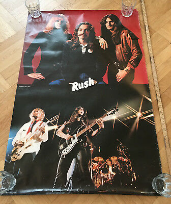 RUSH 1980 Pace 47/8010 Neil Peart Large Poster 93 x 62 cm Vintage Rare