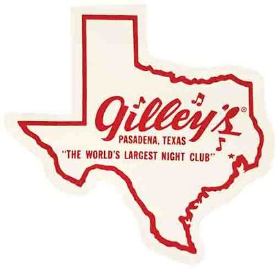 Gilleys Night Club Texas   Gilley's  Vintage Style  Travel Decal  bumper sticker