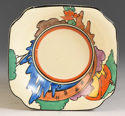 Clarice Cliff ORANGE ROOF COTTAGE NUT DISH C.1932