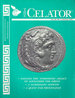 """""""the Celator"""" 2008 Vol 22 #1 & #7 Journal Of Ancient And Medieval Coinage Vg+"""