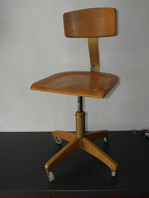 TABOURET Chaises atelier meuble metier STOOL wood Architect Chair ama elastik