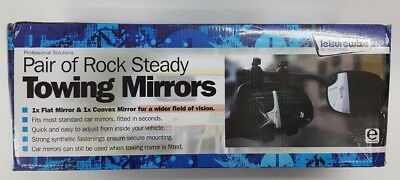 "Leisure Wize Pair of ""Rock Steady"" Towing Mirrors in Original Box - V1027"