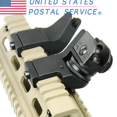 1 Pair Tactical Fixed Front&Rear 45 Degree Offset Adjustable Iron Sights Mount