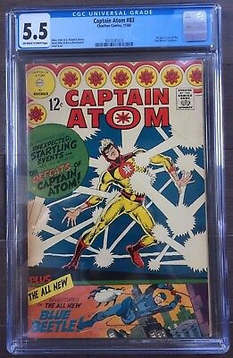 Captain Atom #83 CGC 5.5 1st appearance of Blue Beetle (Ted Kord)KEY ISSUE!L@@K!