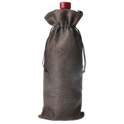 Gift Bags Jute Burlap Wedding Natural -Vintage Hessian 5PCS -Favours Wine Bottle