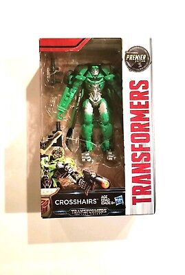 NEW Transformers Crosshairs Action Figure The Last Knight Premier Edition Green