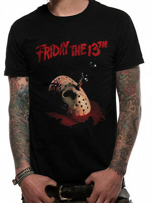 Official Friday the 13th JASON VOORHEES MASK Unisex T-Shirt Tee NEW & IN STOCK