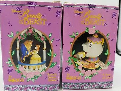 Enesco Disney Beauty & the Beast Ornaments Love's Sweet Dance and Spot of Love