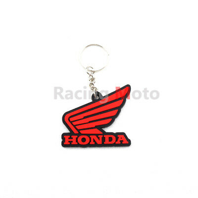 For Honda CBR 600RR 300RR CB400 Keychain Key Ring Rubber Motorcycle Cool Red