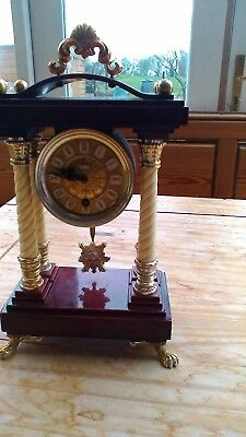 Schmid 8-Day German Mantle Clock with pendulum and key