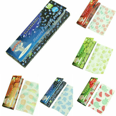 5 Fruit Flavored Smoking Cigarette Hemp Tobacco Rolling Papers 250 Leaves H45