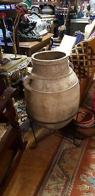 Large Antique Moroccan Clay Jardinier Pot