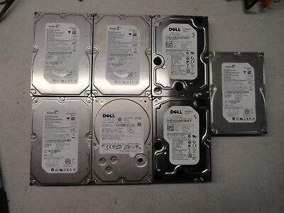 "Lot of 7 SEAGATE/DELL ES ST3750640NS 750GB 7200 RPM SATA 3.5"" Hard Drive 5-11"