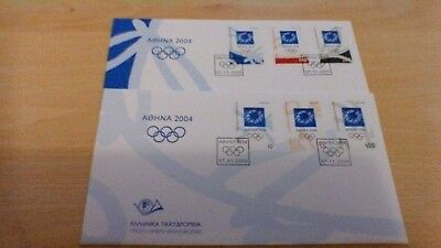 2000 Greece Olympic Games   First Day Covers(2)