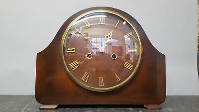 Vintage Smiths Napoleon Hat 8 Day Mantle Clock with Strike