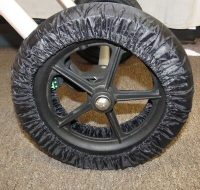 Black Elastic Wheel Tire Cover Protector for STOKKE Baby Child Strollers New