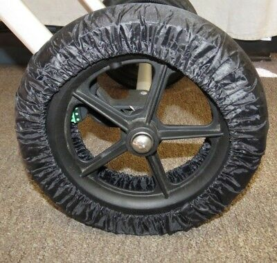 Black Elastic Wheel Tire Cover Protector for Urbini Baby Child Strollers New