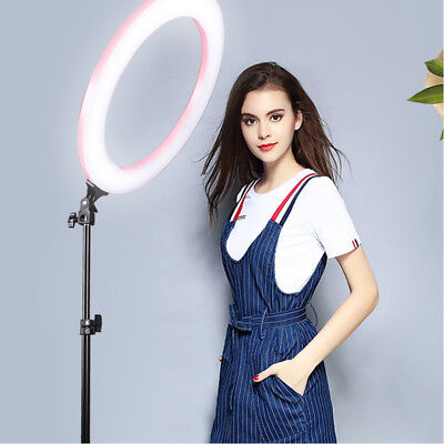 """12"""" LED Ring Light Dimmable 45W 5500K Lamp Photography Camera Photo Studio Video"""