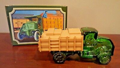avon big mack truck oland after shave green glass collectable empty Big Mack Trucks Drawing vintage avon big mack truck windjammer after shave original box