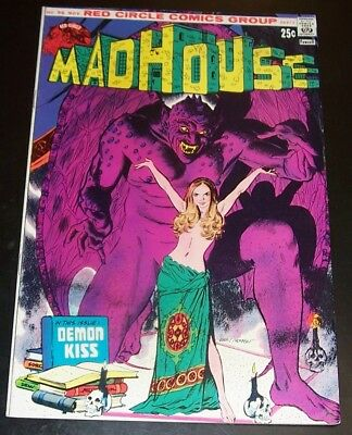 "VFNM: MADHOUSE 96 Red Circle, ""Demon Kiss"" 1974, Bag&Board"