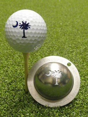 Tin Cup Palm Tree Golf Ball Marking Tool NEW
