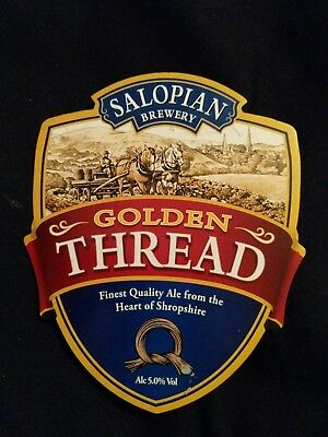 beer pump clip badge - Salopian Brewery Golden Thread Ale