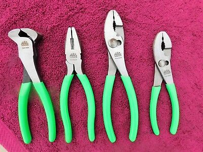 "Mac Tools *mint!* 4-Piece ""green"" Plier Set!"