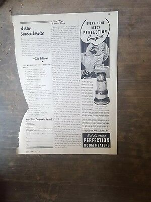 1938 Print Ad-Oil Burning Perfection Room Heaters-Portable room heaters