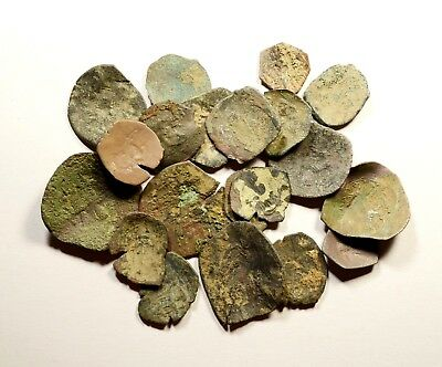 Lot Of 20 Ancient Byzantine Cup Coins - Low Quality - 07