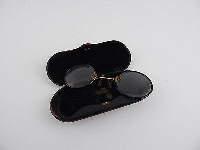 Antichi Occhiali Stringinaso Pince-Nez Metallo Celluloide Antique Glasses