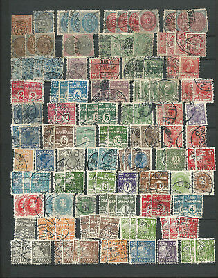 DANEMARK 1585 / 2000 - 400 TIMBRES DONT 240 TIMBRES DIFFERENTS  voir scan LOT 1