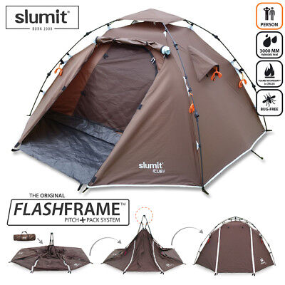 NEW QUICK ERECT EASY PITCH TENT 1 2 MAN BERTH PERSON SLEEPER