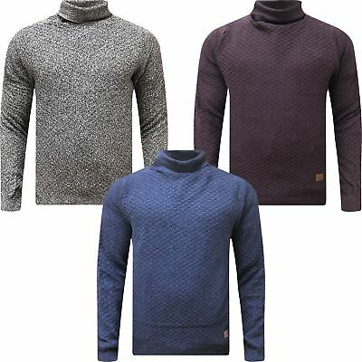 Mens Springfield Polo Roll Cable Knit Turtle Neck Pullover Sweater Jumper Tops