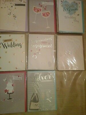 50 Special Occasions Embossed Cards, Wholesale Joblot Greeting Cards