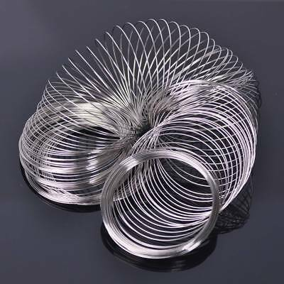 200 Loops 0.6mm 60mm Memory Steel Wire Cuff Bangle Bracelet DIY Jewelry Making