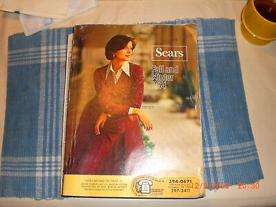 Vintage 1974 Sears Fall and Winter catalog catalogue in very good used condition