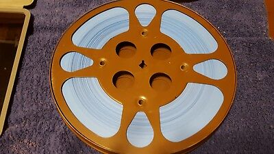 16mm Film Movie Single Side Perforation Blue Leader 500+ feet ft Guffanti Can