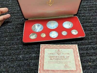 1976 Cayman Islands Silver Proof Coin Set (8 Coins)! - #2