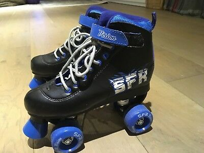 SFR Vision Roller boots, Size 4, Blue, used twice.