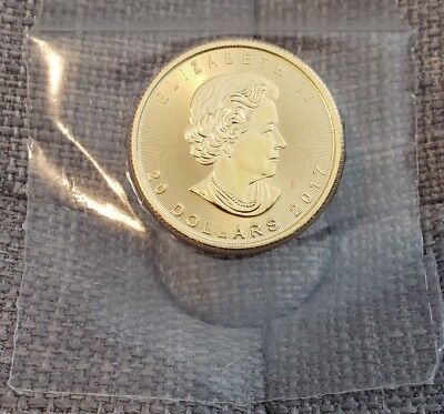2017 1/2 oz canadian maple Gold coin (sealed since original purchase)
