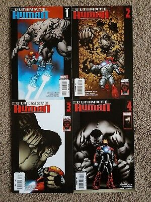 Ultimate Human #1-4 (1 2 3 4) [Complete Series, Marvel, Warren Ellis, Cary Nord]