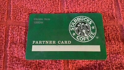 RARE! STARBUCKS 2003 Partner Only GREEN Gift Card USED In Excellent Condition