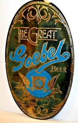 Vintage Geobel Beer Mirror Advertising Bar Sign Man Cave