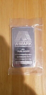 10 oz .999 fine Silver Bar - A-Mark -