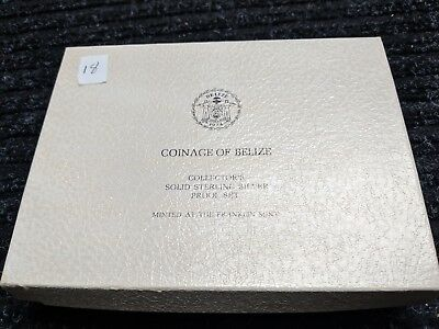 1974 Mint Coinage of Belize Solid Sterling Silver Proof 8 Piece Set w/Velve- #18