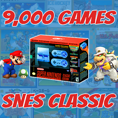 SNES Classic Mini Super Nintendo Edition 9,000 SEGA GBA modded not xbox ps4 nds